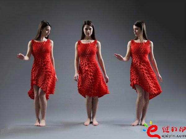3d打印服装 升级2.0版3D打印Kinematic Petals连衣裙诞生_3D打印服务公司