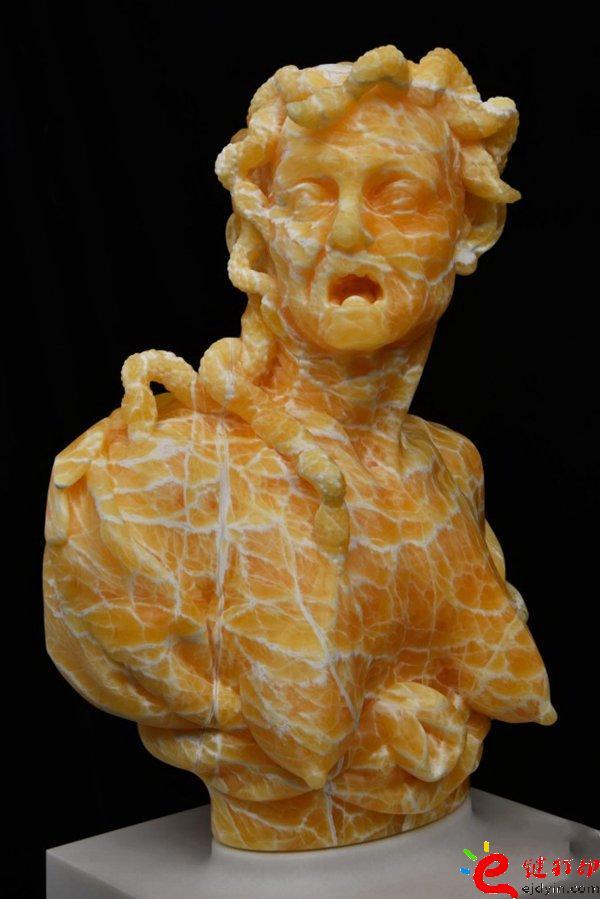 3D打印个性化私人订制 纽约艺术家Barry X Ball的3D打印塑像作品Envy