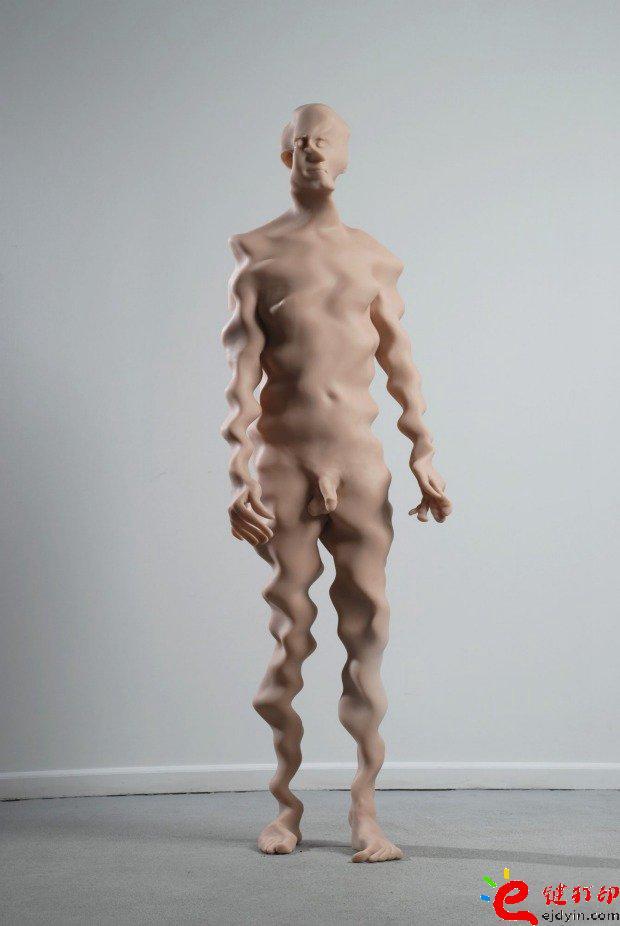 3D打印个性化私人订制 艺术家Richard Dupont的系列3D打印雕塑之一